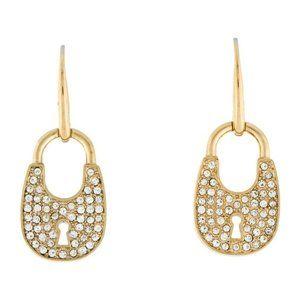 Padlock Drop Earrings